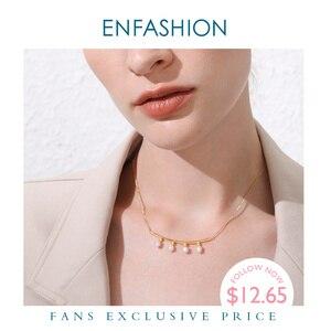 Image 1 - Enfashionパールチョーカーネックレス女性ゴールドカラーのステンレス鋼のペンダントネックレスクリスマスプレゼントファムファッションジュエリーP193029