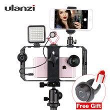 Ulanzi u-rig pro smartphone equipamento de vídeo montagens de sapato caso de equipamento de filme telefone portátil vídeo estabilizador aperto tripé suporte de montagem