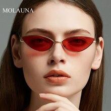 MOLAUNA Small Sunglasses Women Brand Designer Fashion Gradient Sun Glasses Retro Cat Eye Alloy Oculos Gafas De Sol UV400