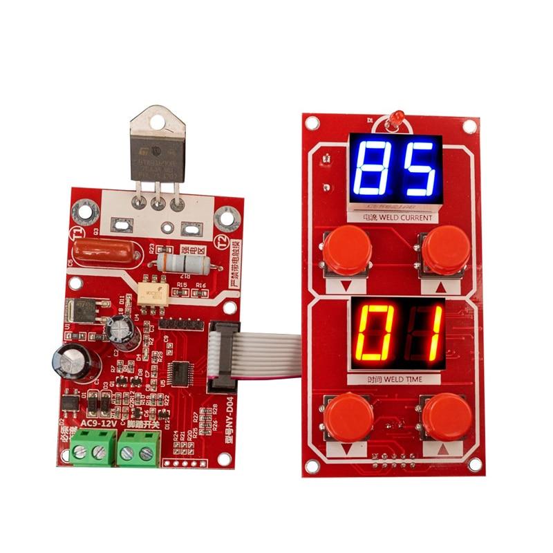 DIY Spot Welder Transformer Controller Adjusting Time And Current Digital Display NY-D04