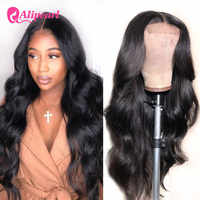 Ali Pearl Hair Body Wave 4x4 Closure Wig For Black Women Peruvian Lace Front Closure Human Hair Wigs Pre Pluck AliPearl Hair Wig