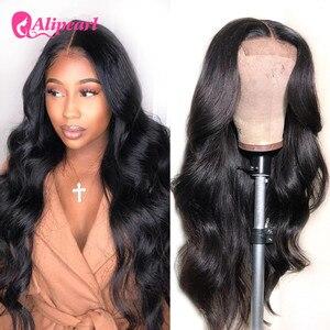 Парик для чернокожих женщин из перуанских волос с перламутровым кружевом, 4x4