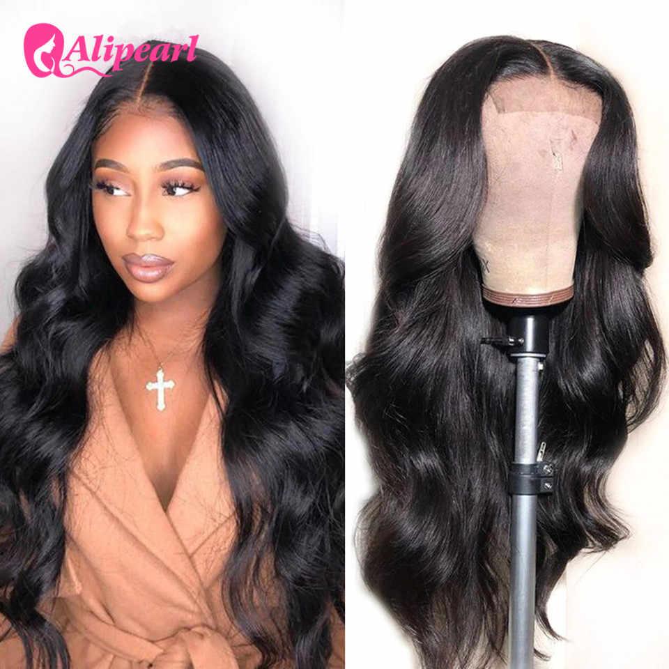 AliExpress-Peluca de pelo de perla con cierre 4x4 ondulado para mujeres negras, pelucas de cabello humano con cierre frontal de encaje peruano, peluca de pelo preplush AliPearl