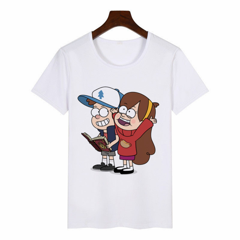 2019 New Summer Women's T-Shirt Gravity Falls Graphic Tees Women Japanese Harajuku T-Shirt Anime Female Tops Aesthetic Clothes