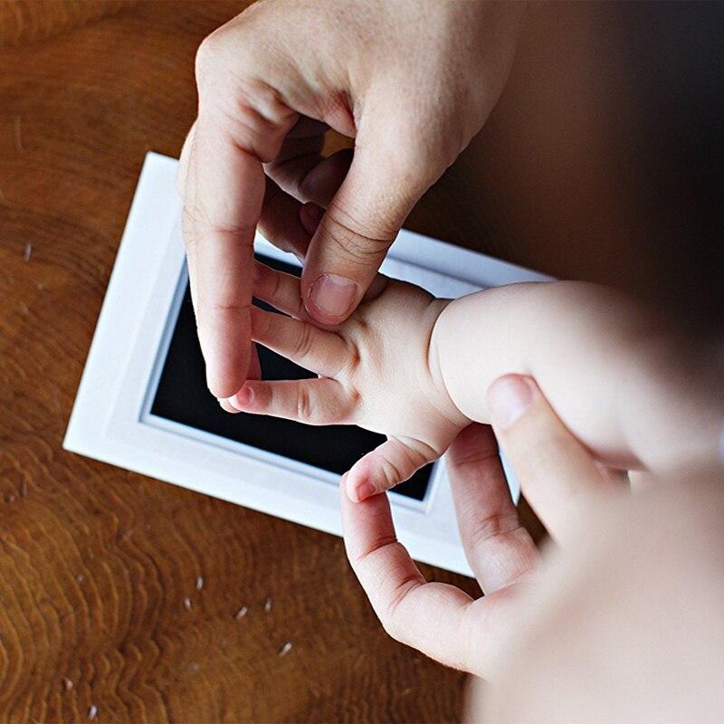 Kid  Baby Toys Non-Toxic Handprint Footprint Kit Souvenir Stamp Pad Toys DIY Watermark Clay Toys