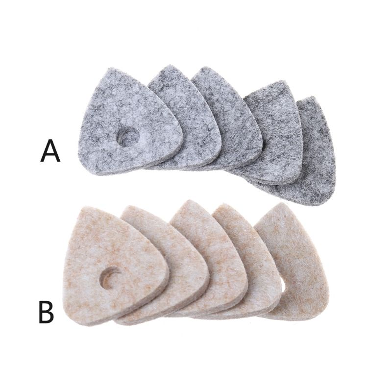 5pcs Ukulele Picks Soft Wool Felt Plectrum Accessories For Concert Soprano Tenor