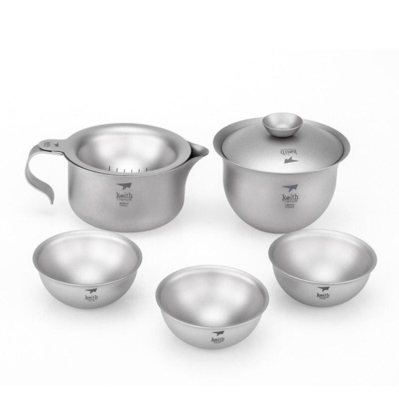 Juego de té de Kung Fu de viaje chino tetera portátil de titanio juego de té Gaiwan tazas de té de Ceremonia de té con bolsa de viaje