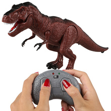Mobile walking roaring dinosaur animal remote control electronic light sound children's toy Halloween birthday gift toy