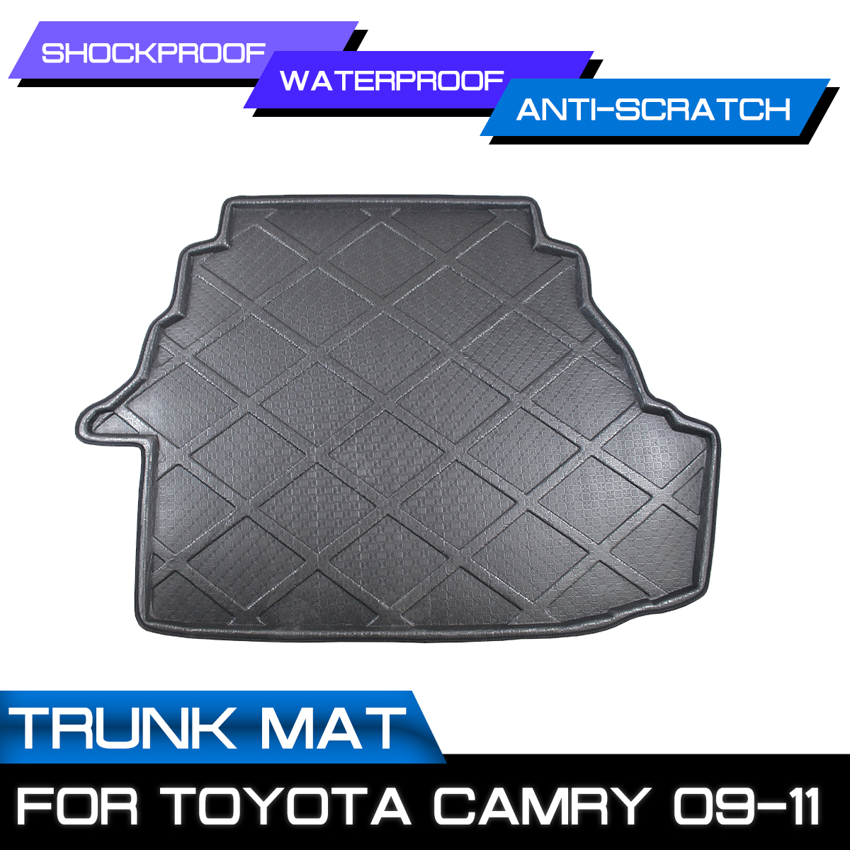 Car Rear Trunk Boot Mat Waterproof Floor Mats Carpet Anti Mud Tray Cargo Liner For Toyota Camry 2009 2010 2011|  - title=