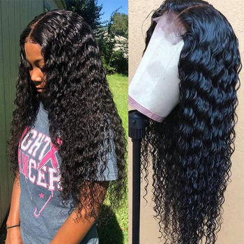 Sapphire Brazilian Curly Lace Closure Human Hair Wigs For Black Women Lace Frontal Curly Human Hair Wigs Remy Pre Plucked Wigs