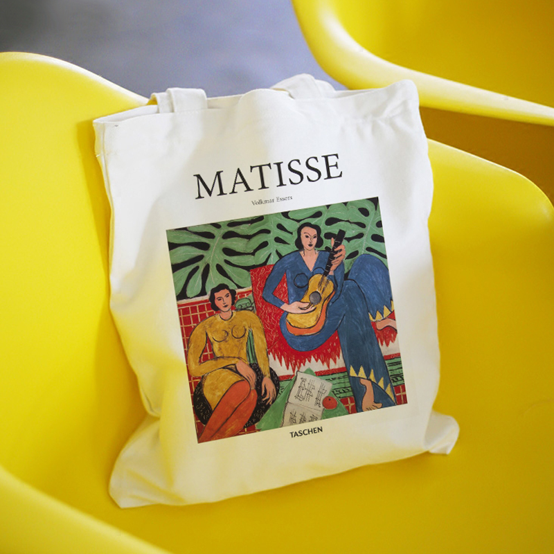 Matisse Summer Large Capacity Casual Women Canvas Printing School Bag Book Fashion Harajuku Letter Shoulder Bags Shopping Bag