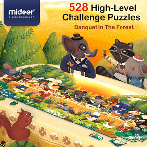 MiDeer Puzzle 528PCS Puzzles Toys Educational Toys Hand-painted Jigsaw Board Style Puzzles Box Set for Kids Gifts 3Y+