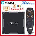 Android 9,0 ТВ Box Smart ТВ коробка X96 MAX plus Amlogic S905X3 8K медиа-проигрыватель 4K 4 Гб Оперативная память 32G/64G 2,4G/5G Wi-Fi X96MAX Декодер каналов кабельного телевид...