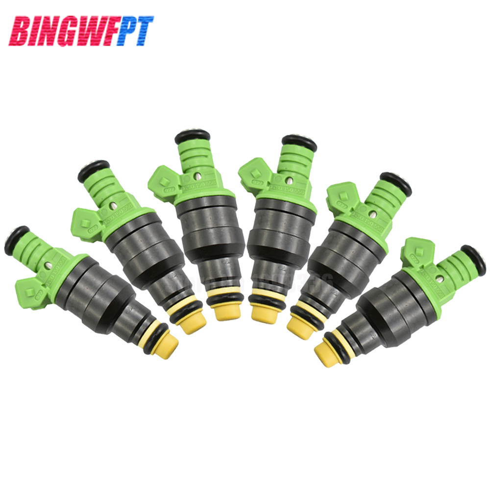 6x 0280150558 Top Racing fuel injectors Engine using For Bosch EV1 For Volvo vw Audi For GMC Chevrolet Dodge For BMW