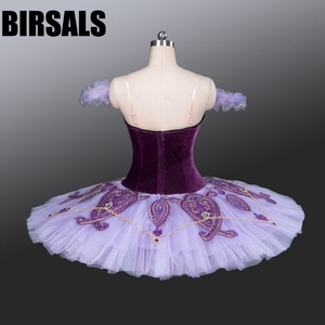 Image 3 - Kadın klasik kostüm Tutu bale dans profesyonel bale Tutu kostümleri tabağı rekabet bale Tutu mor BT9085