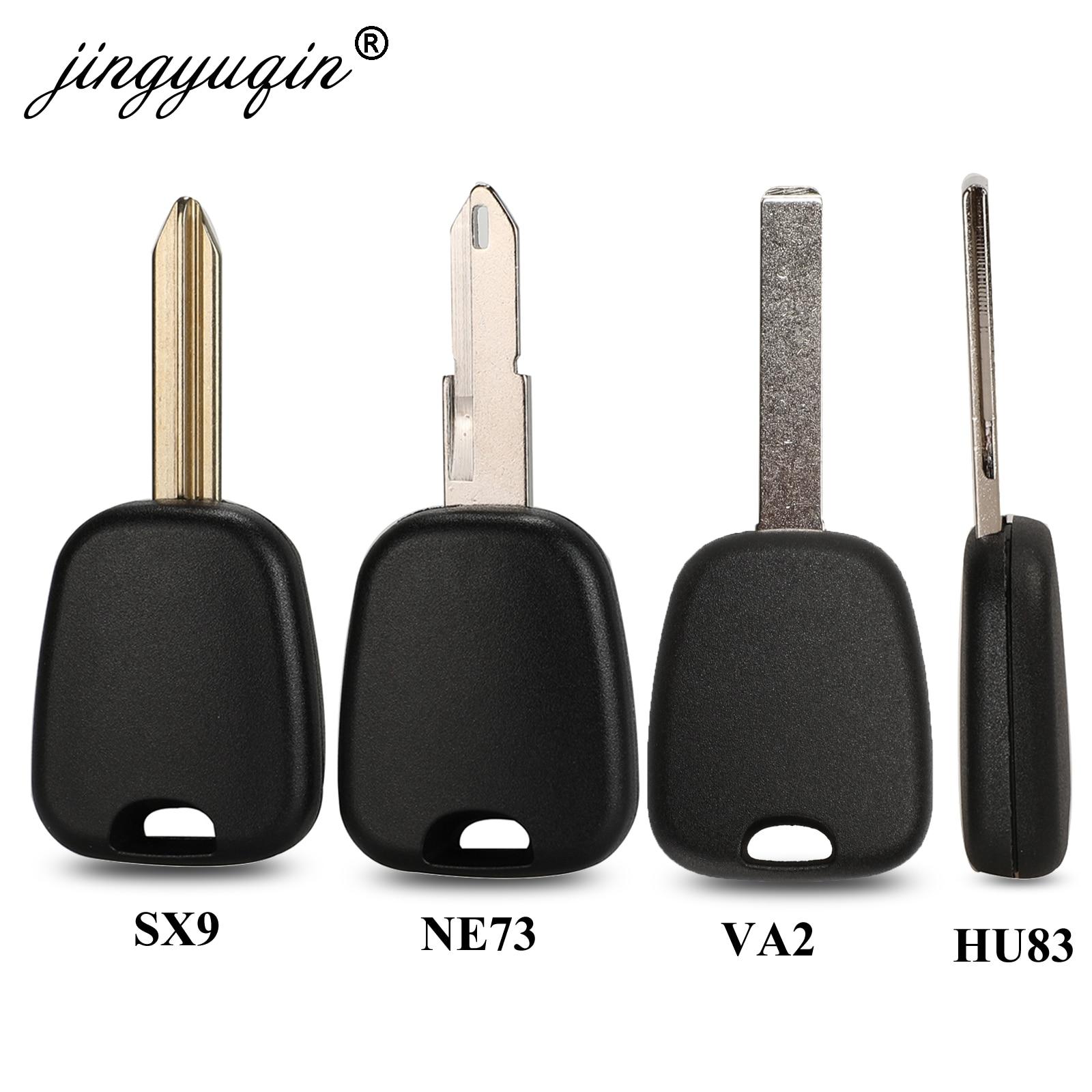 Jingyuqin 10X транспондер автомобильный корпус ключа для Peugeot 106 107 307 207 306 406 для Citroen C2 C3 C4 SX9 NE73 VA2 HCA NE78 Fob чехол