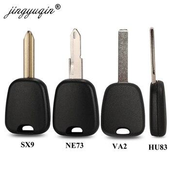 jingyuqin 10X Transponder Car Key Shell For Peugeot 106 107 307 207 306 406 For Citroen C2 C3 C4 SX9 NE73 VA2 HCA NE78 Fob Case