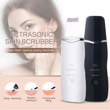 FoLLoo Ultrasonic skin scrubber Facial Scrubber Ion Deep Face Cleaning Peeling Rechargeable Skin Care Device Beauty Instrument