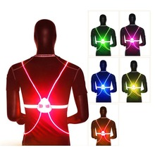 360-degree Reflective Vest High Visibility Safety Flash LED Driving Night Cycling Light Up Bicycle