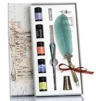Горячая перьевая ручка, стеклянная ручка, чернила Mercury Sky Dip, кристальная ручка, Студенческая ручка, градиентный цвет, чистая красная черниль...