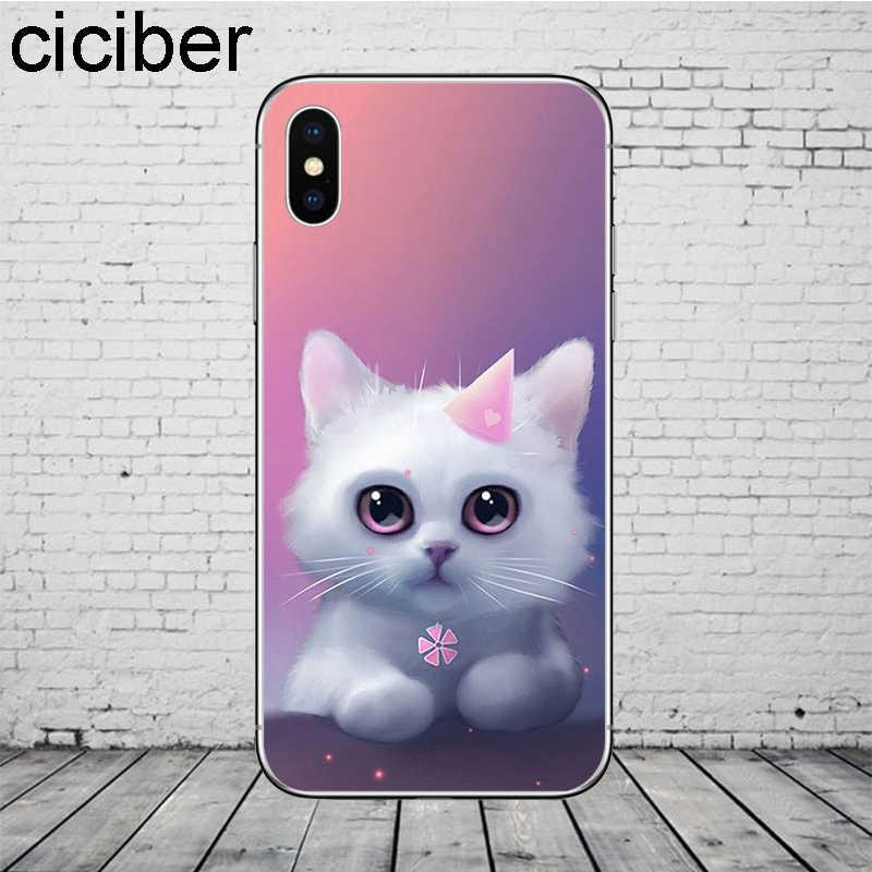 Ciciber الحيوان القط غطاء آيفون 11 برو ماكس حقيبة لهاتف أي فون XR X XS ماكس 7 8 6 6S زائد 5 5s SE جراب هاتف لينة بولي يوريثان Coque Funda