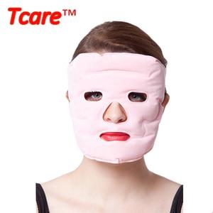 Image 5 - Tcare 1 шт. косметическая маска для лица с эффектом подтяжки, магнитная терапия, массажная маска для лица, увлажняющие отбеливающие маски для лица, забота о здоровье