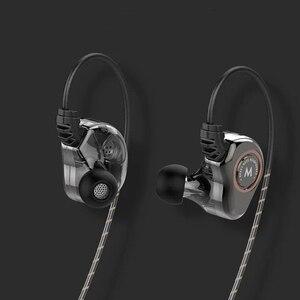 Image 4 - Wired כפול יחידת כונן באוזן אוזניות בס סאב HIFI 6D איכות צליל מוסיקה ספורט אוזניות סוג C אוזניות אוזניות