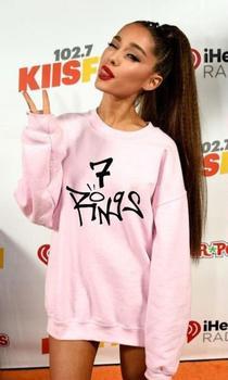 Sugarbaby-Sudadera de manga larga con 7 anillos para mujer, jersey de Ariana...