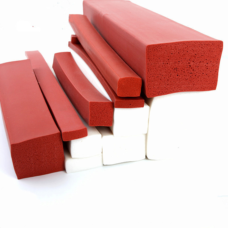 Custom Silicone Foam Strip Heat Insulation Bar 20mm x 3mm / 5mm 25mm 40mm x 5mm 20x3mm 20x5mm 25x5mm 40x5mm 70x20mm 1 Meter Red