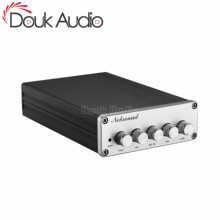 Douk オーディオミニ 2.1 チャンネル TPA3116 デジタルパワーアンプの Hi Fi ステレオオーディオベースアンプサブウーファー 2 × 50 ワット + 100 ワット