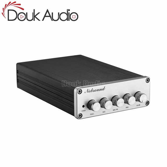 Цифровой усилитель мощности Douk Audio Mini, 2,1 каналов, TPA3116, Hi Fi стерео аудио усилитель басов, сабвуфер 2 × 50 Вт + 100 Вт
