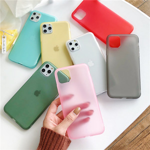 Clear Liquid Emulsion Matte Silicone Phone Case For iPhone 11 Pro XS Max XR 10 8 7 6s Plus iPhone11 11pro 8Plus 7Plus Soft Cover(China)