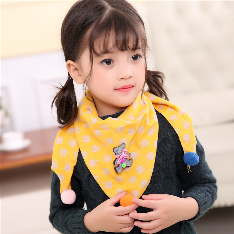 Children 39 s baby bib Scarves Autumn Winter Cotton Triangle Scarf Boys Girls Cartoon cute Neck Scarves Neckerchief kids in Scarves from Mother amp Kids