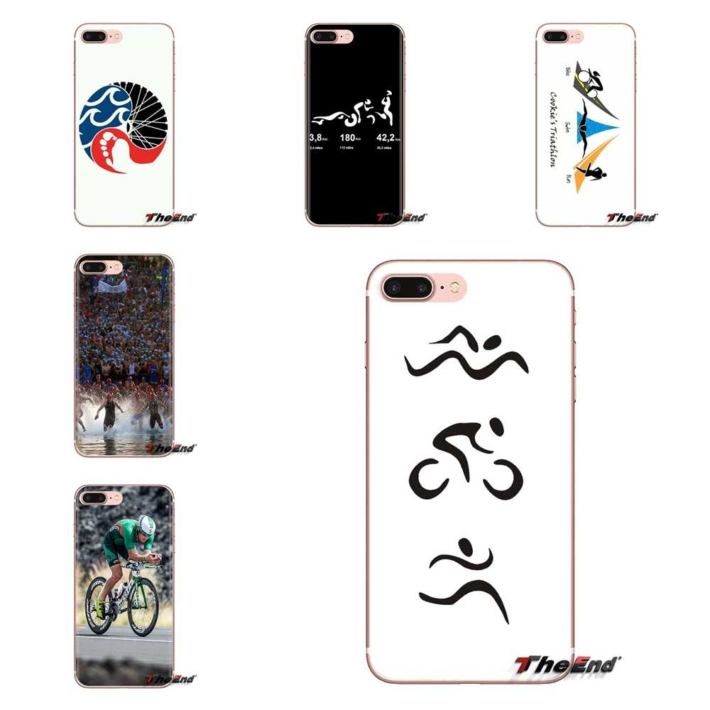 Item Triathlon Ironman Silicone Case Cover Voor Samsung Galaxy S2 S3 S4 S5 MINI S6 S7 rand S8 S9 Plus opmerking 2 3 4 5 8 Coque Fundas