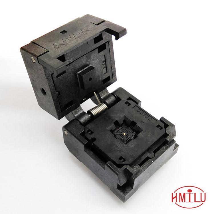 QFN36 MLF36 graver dans la prise de Test de prise IC IC550-0364-016-G pas 0.5mm taille de la puce 6*6 adaptateur de programmation à clapet Flash
