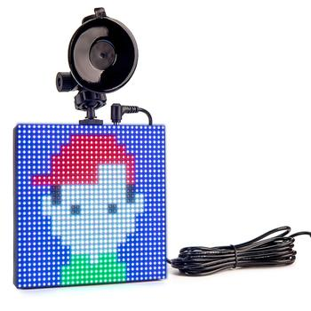 12v P4 Animation LED Signboard Car Etiquette Light Bluetooth Full color DIY Graffiti Logo LED Emotion Message Display Board