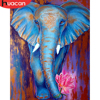 HUACAN Painting By Numbers Animal Elephant Oil Painting Hand Painted Acrylic On Canvas Home Decoration Wall Art Pictures
