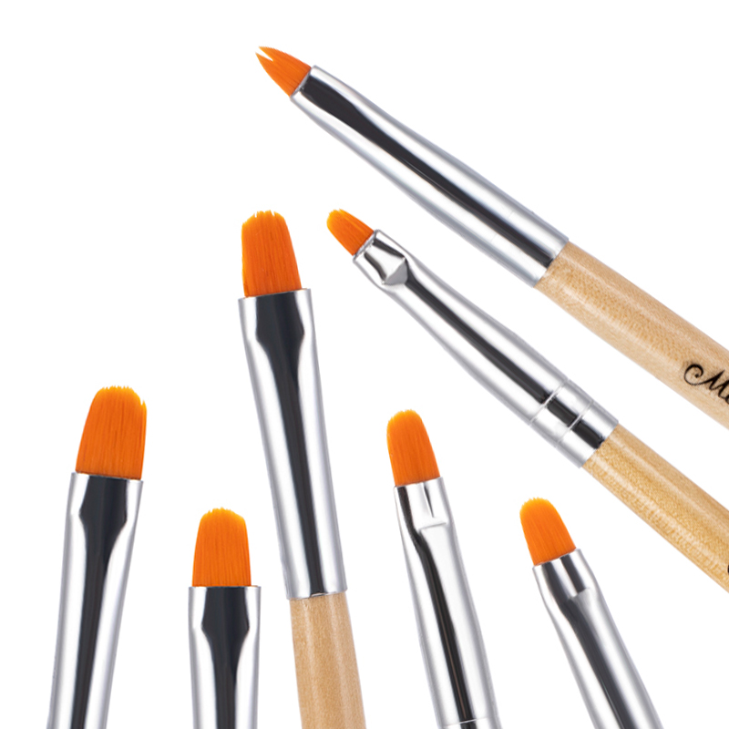 7PCS Manicure Brushes Set For Nail Art Painting Brushes Acrylic Nail Art Pen Tips UV Builder Gel Brush Manicure Tools Nail Brush