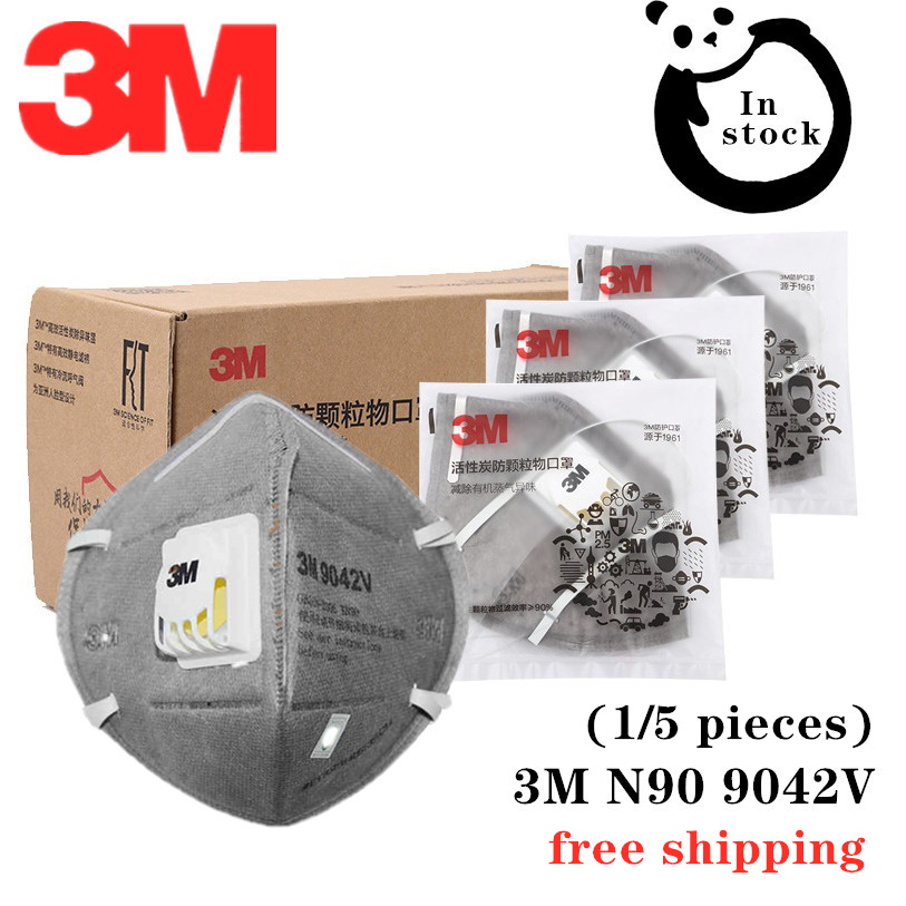 3M KN90 9042V Gas Mask Formaldehyde Activated Carbon Filter Cotton Anti Smog PM2.5 Decoration Mask