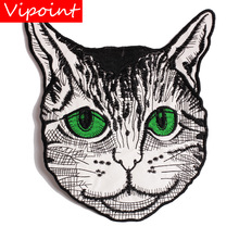 embroidery cats patches for jackets,cats cartoon badges jeans,animal appliques A260