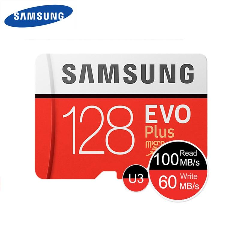 Оригинальный SAMSUNG карта памяти micro sd/TF EVO Puls 128 Гб карта памяти 100 МБ/с. 64 Гб 256 ГБ 512 C10 UHS-I карты памяти Microsd cartao de mamoria