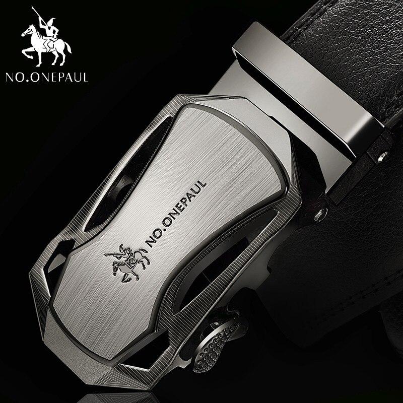 NO.ONEPAUL Top Brand Designer Belt Man Cow For Men Automatic Buckle Strap Fashion Waist Male Ceinture Femme Genuine Leather Belt