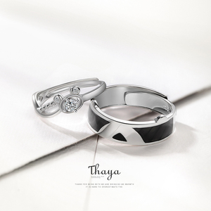 Image 3 - Thaya S925 ayar gümüş kristal güzel ayı yüzükler orijinal tasarım kadınlar için zarif yüzük güzel takı hediye
