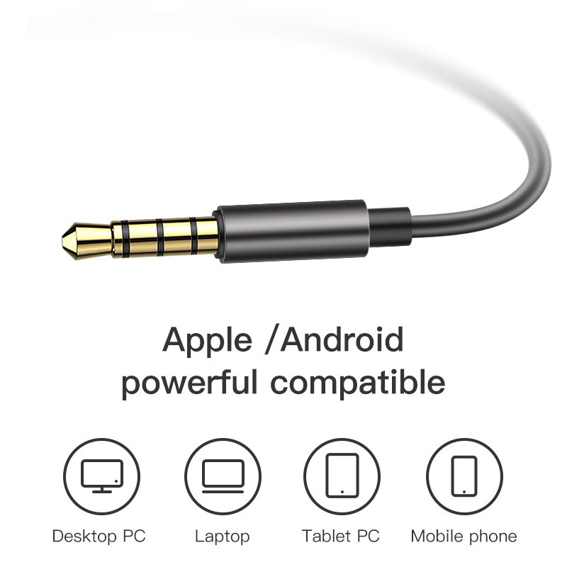 Earphones with Microphone Wired Earbuds in Ear Deep Bass 3.5mm Jack for iPhone 6 5 Xiaomi Samsung Huawei Fone De ouvido 4