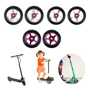 2 pcs Replacement 100mm Push/Kick/Stunt Scooter Wheels with Bearings & Bushings
