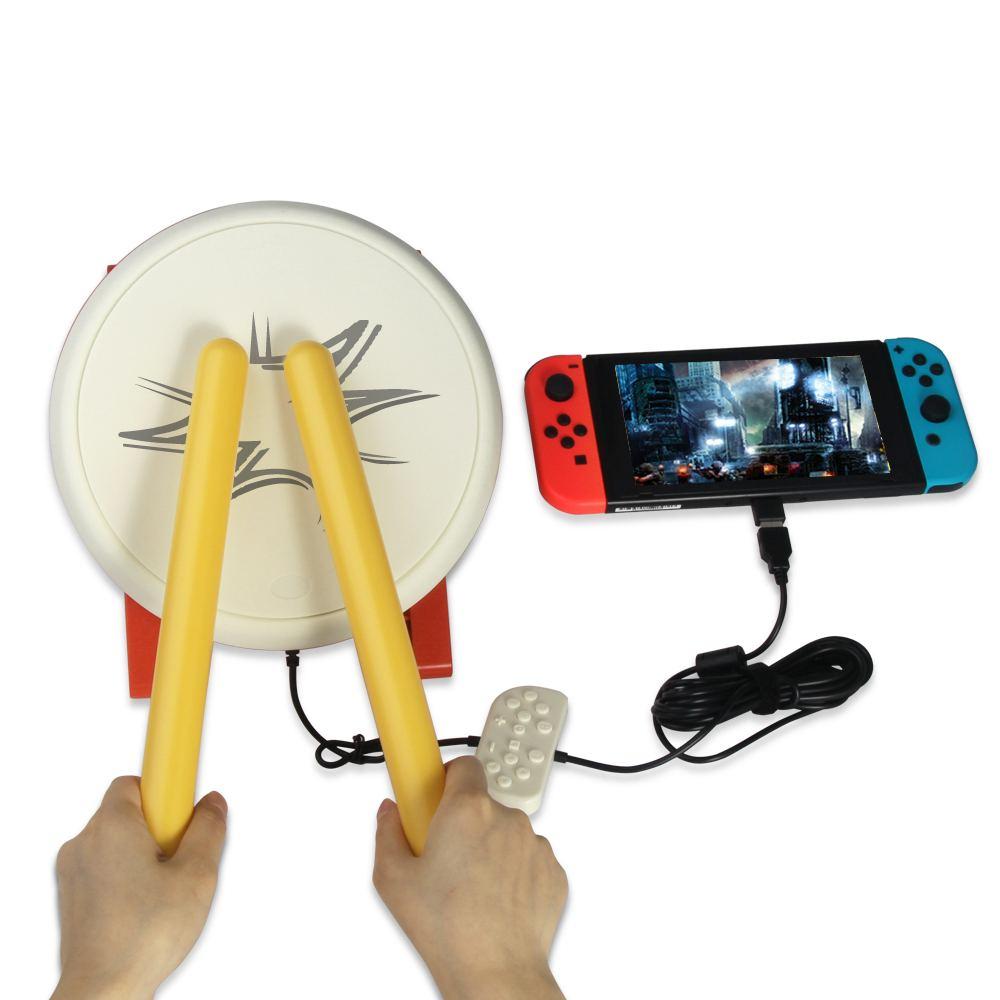 Jeu de bâtons de batterie de jeu vidéo USB pour contrôleur n-switch Console de jeu vidéo accessoires de jeu DC 5V pour tambour Taiko - 2