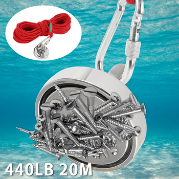 Super Powerful Magnetic Salvage Pot Magnet Sea Treasure Hunting Fishing Magnet Super Magnet Neodymium Magnet with 20m Rope фото