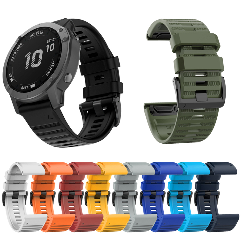 Silicone Watch Strap Watchband For Garmin Fenix6X / Fenix5X / FeniX3 HR / Quaitx3 / Tactix Bravo Smart Watch Bracelet Wristband