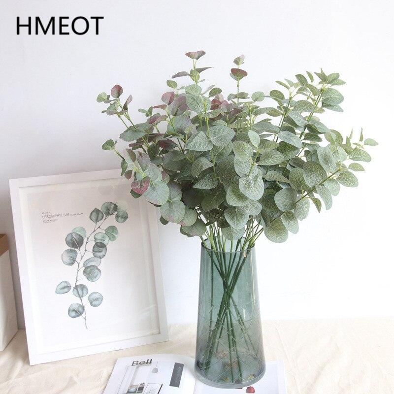 Nordic Künstliche Blume Eukalyptus Geld Blatt Pflanzen Zweig Zimmer Garten Wohnkultur Hochzeit Pflanzen Wand Zubehör Foto Requisiten