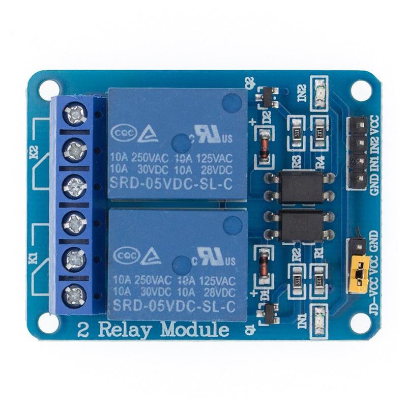 5v 1 2 4 8 канальный релейный модуль с оптроном. Релейный выход X way релейный модуль для arduino 1CH 2CH 4CH 8CH - Цвет: 2CH